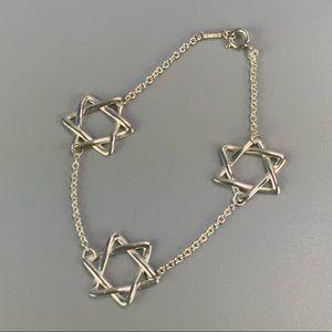 Authentic Tiffany Star of David Bracelet AG925
